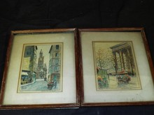 Paris of Paris Watercolors, Signed Mario
