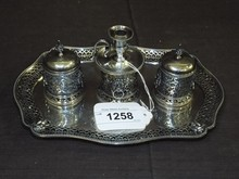 Victorian Sterling Inkwell, George Fox