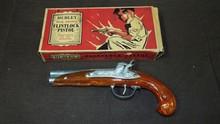 Hubley Flintlock Pistol. Boxed.