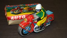 Japanese Tin Motorcycle Boxed.