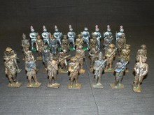 Grey Iron Lead Cast Toy Soldier Lot