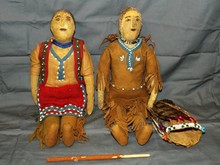 Lot of 2 Early Indian Dolls