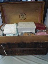 Turn of the Century Trunk with Doll Clothes