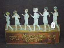 Munsing Wear Tin Cutout Display Sign
