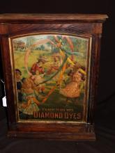 Diamond Dyes Retail Display Advertising Cabinet