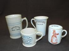 (4) Assorted Mugs