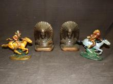 Lot of Indian Bookends