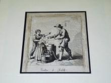 19th Century Ice Cream Vendor Engraving.