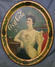 1905 Coca Cola Serving Tray. Rare.
