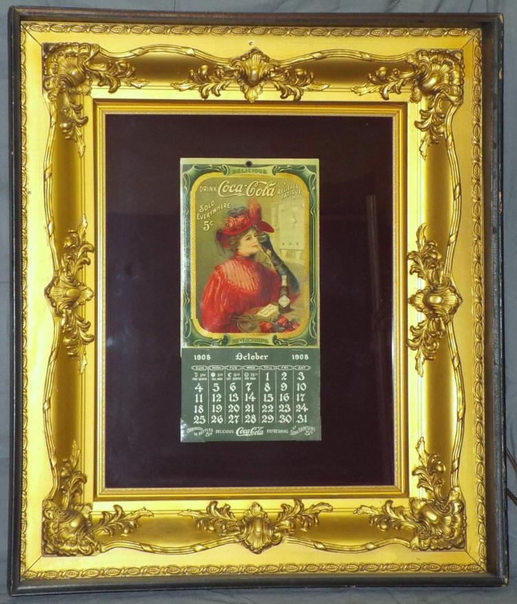 Coca Cola Calendar. 1908. Rare.