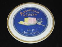 Abbott Maid Ice Cream Dish.