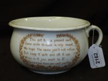 Antique Mid 1700's Early 1800's Chamber Pot