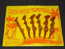 1950's Set of Zulu Zulu Swizzle Sticks