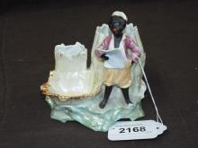 Black Americana Porcelain Figural Cigar Holder