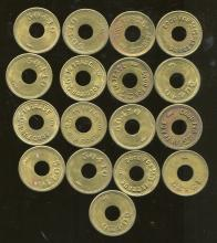 Lot of 17 Slot Machine Tokens