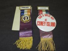 (2) 1950's Coney Island Mardi Gras Ribbons