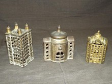 (3) Cast Iron Building Banks
