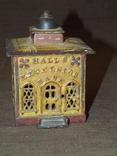 Halls Excelsior Cast Iron Mechanical Bank