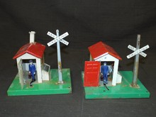 (2) Lionel #45 Automatic Gateman Accessories