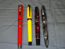 Lot of 4 Fountain Pens