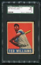 1948-49 Leaf Gum Co. #76 Ted Williams.