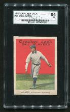 1915 Cracker Jack #63 Babe Adams Graded.