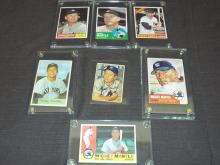 Mickey Mantle Baseball Card Lot.