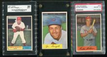 Three 1950's-60's Baseball cards.