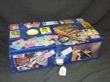 Funky Decoupage Baseball Wooden Card Box.