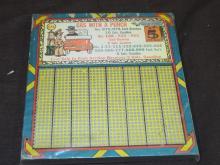 Gasoline Punch Board.