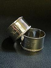 A pair of napkin rings