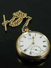 A 9ct gold pocket watch by Benson