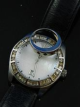 A gold ring & a gents watch