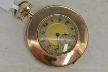 *Gentlemen's gold filled pocket watch, slim case design with a diameter of approximately 45mm, circular dial with natural patina, Arabic numerals at hour markers, subsidiary seconds dial at six o'clock, circa 1940s (Lot subject to VAT)