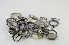 Selection of gentlemen's silver pocket watch cases including approximately 11 examples