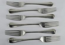 A set of 6 Old English pattern table forks by Josiah Williams & Co, London 1906, 445g