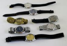 *Selection of seven gentlemen's Seiko wristwatches, including automatic models (Lot subject to VAT)