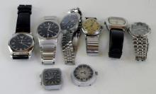 *Selection of gentlemen's wristwatches including Armani, Skagen and Edox (Lot subject to VAT)