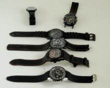 *Selection of gentlemen's wristwatches, including Swatch and Fossil (Lot subject to VAT)