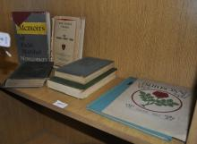 A quantity of war related books, including 'The War in Malay', A.E.Percival, 1949; 'War Crimes, Vol. VIII', 1951; 'The Prisoner of War, Vol IV'; 'In Times of War'