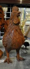 *A rusty cast iron hen statue, (Lot subject to VAT)