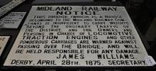 *A cast iron Midland Railway sign, (Lot subject to VAT)