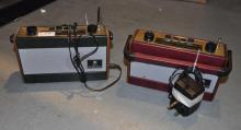 Two Roberts 240V three band radios
