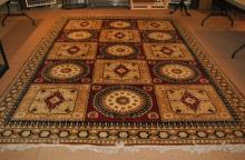 Large 20th Century Israeli mustard ground carpet