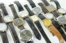*Selection of gentlemen's strap wristwatches including a Citizen Eco-Drive (Lot subject to VAT)