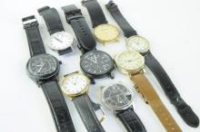 *Selection of gentlemen's strap wristwatches including Mondaine and Armani exchange (Lot subject to VAT)