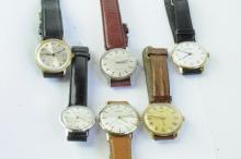 Selection of gentlemen's wristwatches including a Certina Bristol 235