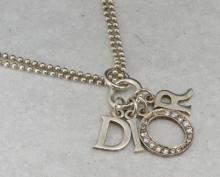 Christian Dior silver necklace