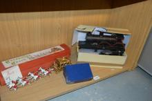 *A model steam train, Meccano No1 clockwork motor 11010 and a Lesney coronation coach model in original box (Subject to VAT)