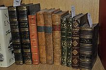 History: Rev G N Wright, Life & Reign of William IV, 2 vol, London, n.d.; Irving Washington, Life of Colombus, two fold-out maps, John Murray 1830; Henry Coleridge, Six Months in the West Indies, Roworths/John Murray 1825; Lord Lytton , The Last days of Pompeii, Routledge 1864; Bertrand de Moleville, Histoire de la Revolution de France, Minister of State Chez Guiget Paris 1801, 2 vol; Prescott's Conquest of Mexico, Routledge 1866; Laure Bernard, Voyages Modernes, 2 vol, Lehuby Paris.